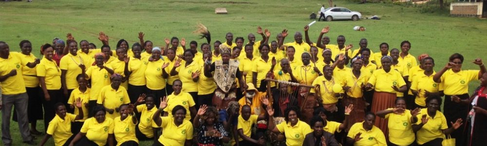 Women at community walk to raise awareness on electing leaders of integrity and raising funds for economic empwoerment